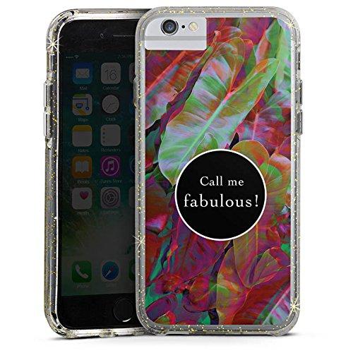 Apple iPhone X Bumper Hülle Bumper Case Glitzer Hülle Fabulous Bunt Colourful Bumper Case Glitzer gold