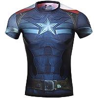Cody Lundin® maschile Sonic compressione shirts Avengers Capitan America T-shirt Fitness in esecuzione collant