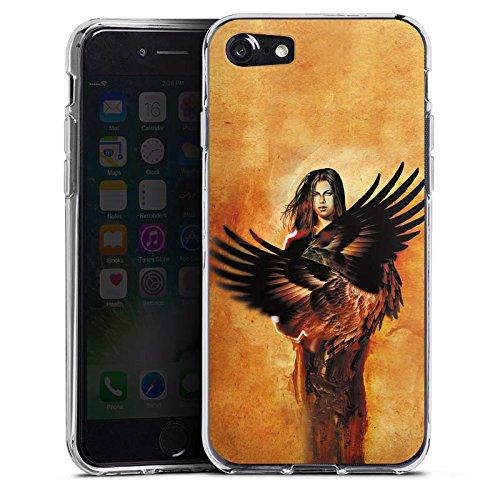 Apple iPhone X Silikon Hülle Case Schutzhülle Engel Flügel Frau Silikon Case transparent