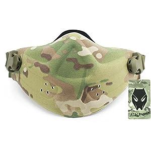 Militaire tactique pour airsoft/paintball chasse en néoprène léger en mousse rigide réglable Demi Visage Nez Masque de protection