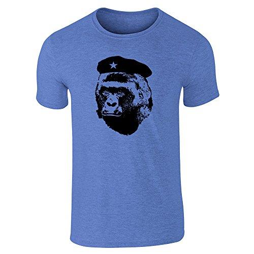 Pop Threads Herren T-Shirt Heather Royal Blue