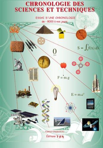 CHRONOLOGIE DES SCIENCES ET TECHNIQUES (Nouvelle édition : Avril 2014 !)