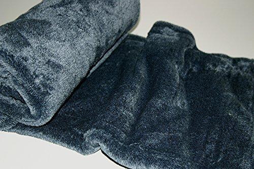 Montse Interiors Decke/Plaid Kariert Samt Touch Seide Oder Visier 310 gr/M2 130x170 Blau (Marble Aguamarina) (Seide Samt Decke)