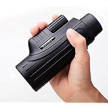 NOCOEX® 10X42 Tamaño de bolsillo monóculo alta potencia de la gama brillante y clara de vista de una sola mano de enfoque monocular (Negro)