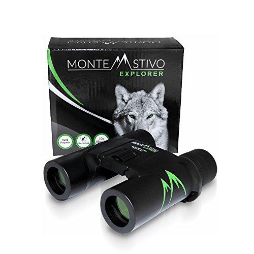 Monte Stivo Explorer | Premium Kompakt-Fernglas 10x26 - Wasserdicht mit Anti-Beschlagschutz | Ultra...