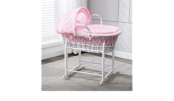Mcc komplettset moses weidenkorb baby korb stubenwagen in rosa