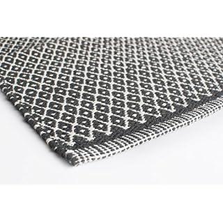 Aspegren Dänemark - Teppich RHOMBE dunkelgrau - 70 x 130 cm