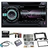 Sony WX-900BT Bluetooth USB CD Aux MP3 Autoradio Einbauset für Mercedes Sprinter W906 Crafter