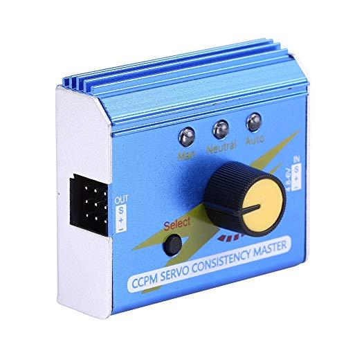 Dilwe RC-Motor Servo Tester, CCPM-Servokonsistenz Master-Motortester ESC Checker für RC Flugzeug Auto Boot RC Modell Teil Zubehör -