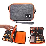 #5: ORPIO (LABLE) Waterproof Double Layer Electronic Accessories Organizer, Travel Gadget Bag for Phone, Mini iPad Cables, Power Bank, Pen-Drive, Plug and More, (Multi Color)