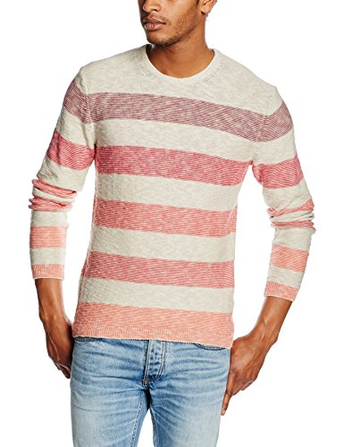 United Colors of Benetton Stripe - Pull - Manches Longues - Homme Beige