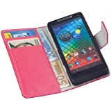 yayago Book Style Tasche für Motorola Razr i / Razr M Hülle mit Kartenfächern