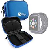 DURAGADGET Estuche Rígido Azul Para Smartwatch Mobiper G08 / Wiseup GT08