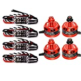 LHI 4Pcs DX2205 2300KV Brushless Motor 2CW 2CCW+4Pcs FVT LittleBee 20A ESC for QAV250 QAV300 FPV Racing Quadcopter