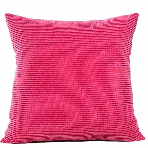 Kavitoz Dekorative Kissenbezug Weiche Plüsch Sofa Bett Stuhl Kissen Fall 45cm*45cm (Hot Pink) (Dekorative Hot Pink Kissen)