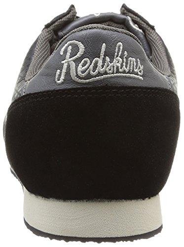 Redskins Discor, Baskets mode homme Noir (Noir/Gris)