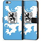 Apple iPhone 6s Plus Flip Tasche Schutz Hülle Walletcase Bookstyle TSV 1860 München Fanartikel Bundesliga Fußball