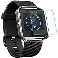 Fitbit Blaze Schutzfilm, [1/2/4/5/6 Stück] [Ultra-Dicke] [9H Härte] [Transparentes Glas] [Anti-Kartz] [Advanced gehärtetes Glas] für Fitbit Blaze Smart-Uhren