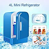 luckything Mini Frigo Voiture Rechargeable, 12V 4L Réfrigérateur Portable Mini Frigo De Chambre Faible Bruit, Chauffe-Nourriture Frigo Voiture, Camping Pique-Nique