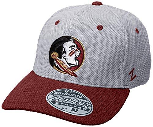 Zephyr NCAA Florida State Seminolen Herren Die Leichtathlet Performance Hat, klein, grau/kardinalrot