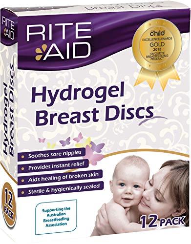 Rite Aid hydrogel poitrine Disques (X12) - Aide à Guérir Craquelées mamelons douloureux