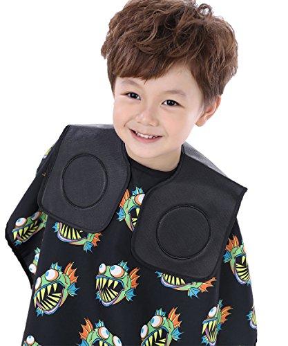 Col noir pour coiffeur, pour coupes enfants, couvre le cou, en PVC souple
