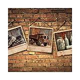 ZCHENG Alte Mauer Tapeten Retro-Nostalgie ktv Cafe Bar Wohnzimmer mit Sofa Tapete Hintergrund Wallpaper, 350x245 cm (137,8 von 96,5 in)
