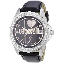 Just Cavalli EASY HEART JC R7251167525 - Reloj de mujer de cuarzo, correa de piel color negro