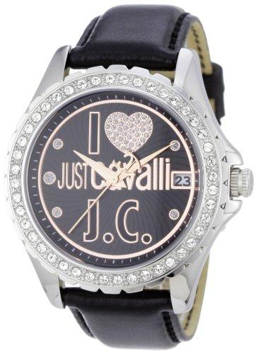 Just Cavalli EASY HEART JC R7251167525 – Reloj de mujer de cuarzo, correa de piel color negro