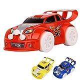Demiawaking Kinder Spielzeug Weihnachten Automatik Lenkung Blinkende Musik Racing Auto Elektrische Spielzeug
