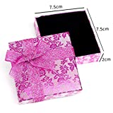 RKC x 2PCS Beautiful Sparkling Pink Ribbon JEWELLERY GIFT BOXES For Necklace Bracelet Earrings Rings Baby Showers Wedding Favours Birthdays Charms Wholesale Sets