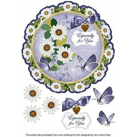 Classic Daisy ideali per il Decoupage, 20 cm, motivo: centrino, Topper by Ann Vaux marie