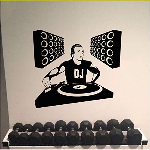 Ljtao Wand Zimmer Dekor Kunst Vinyl Aufkleber Wandtattoo Dj Edm Poster Spinning
