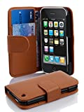 Cadorabo Coque pour Apple iPhone 3 / 3S / 3GS COGNAC/MARRONE Housse de Protection...