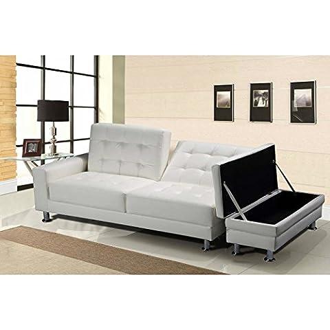 [UK] CRAVOG Bianco CHEAP ottomano letto divano
