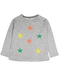 Aristot Girls' Fluo Stars Embroidered Sweatshirt