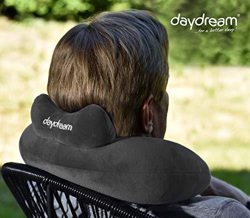 daydream: Reise Nackenkissen mit Kopfstütze aus Mikroperlen, grau (N-5062) Nackenhörnchen , Reisekissen , Nackenstützkissen , Kissen , Nackenrolle , Testsieger bei Produkttester.Community