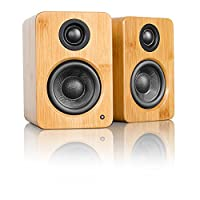 Kanto YU2 3 Inch 2-Way Powered Desktop Speakers - Bamboo