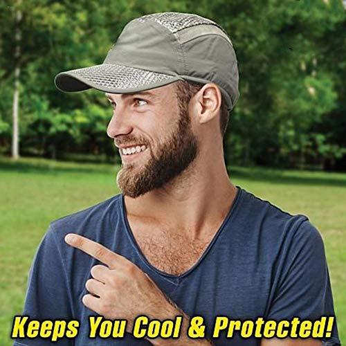 Unisex Sommer Sonnenhut Für Frauen Männer EIS Hut Sonnencreme Kühlung Ice Cap Handtuch UV Schutz Formbar Breiter Krempe Hut