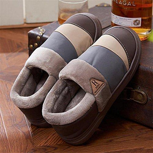 Di Fluff Pantofole W Cotone Scarpe Foderato 42 A Camoscio Casa Uomini Xy D'inverno qvBO4ga