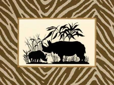 Feelingathome.it-LEINWANDDRUCK-Serengeti-Silhouette-II-cm41x54-poster-bild-auf-leinwand (Serengeti Silhouette)