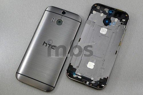 Akkudeckel für HTC One M8 Akku Deckel Back Cover Gehäuse Abdeckung Rahmen Metal Anthrazit Grau Back Cover Gehäuse