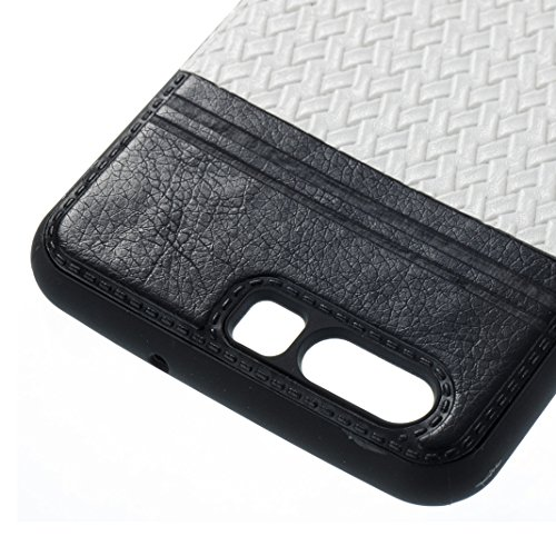 Cover Per Huawei P10, Asnlove TPU Moda Morbida Custodia Linee Intrecciate Caso Elegante Ultra Sottile Cassa Braided Stile Tessere Case Bumper Per Huawei P10 - Rosa Bianca