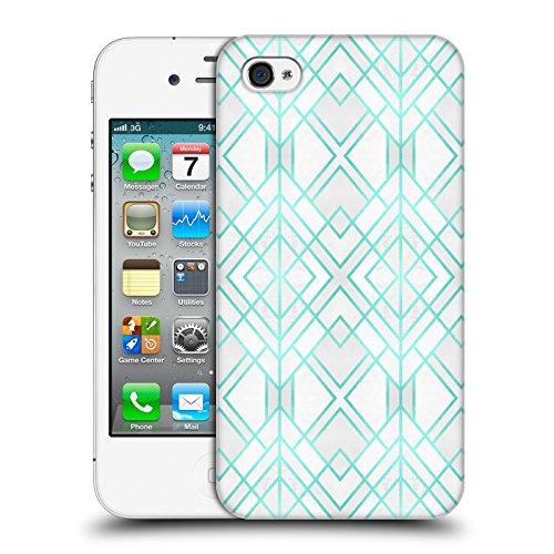Offizielle Elisabeth Fredriksson Blaues Glas Geometrisches Designs Und Muster Ruckseite Hülle für Apple iPhone 6 / 6s Zyan Geo