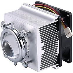 Tesfish Ventilador de aluminio del disipador de calor + lente de 44mm 120 grados para la viruta del LED