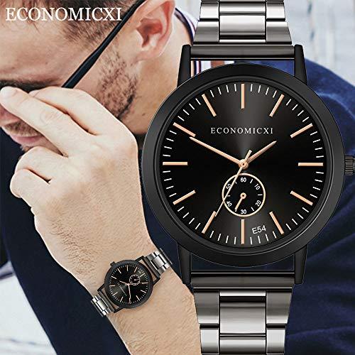 HHyyq Unisex Erwachsene Digital Quarz Uhr mit Edelstahl Armband Damenmode aus Stahlgürtel Temperament Mode Stahl Gürtel Damen Diamant Männer und Frauen Geschenk Quarzuhr(A) -