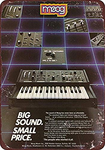 Harvesthouse MOOG Keyboard Synthesizer Vintage ad Reproduction Metal Sign 8 x 12 by