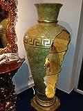 Bar Vitrine Amphore Vase Vasen mit Licht Regal Glasregal Bodenvase 6851 Marmor