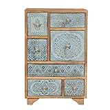 Casa Moro Orientalische Sideboard Indian Style handbemalte Kommodenschrank Apothekerschrank Holzschrank aus Mangoholz Handmade Vintage Shabby Chic mit Buddhas Hand Kommode SUMANTRA