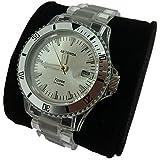 Sekonda Xpose Ice 3822 Clear Plastic Strap Silver Dial Swimming Watch